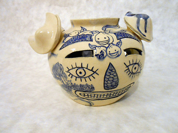 Three Fortune Cookie Face Jug