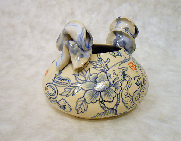 Fortune Cookie Love Dragon Face Jug